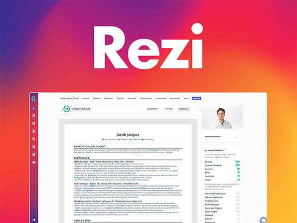 Rezi Résumé Software: Pro Lifetime Subscription